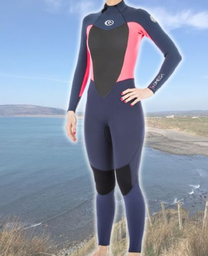 Rip Curl Omega 3/2mm Back Zip Wetsuit Neon
